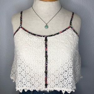 Urban Outfitters Lace Crop Top